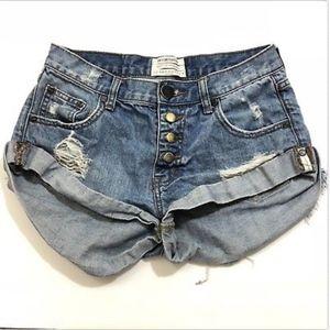 One X One Teaspoon Free People Bandits Shorts